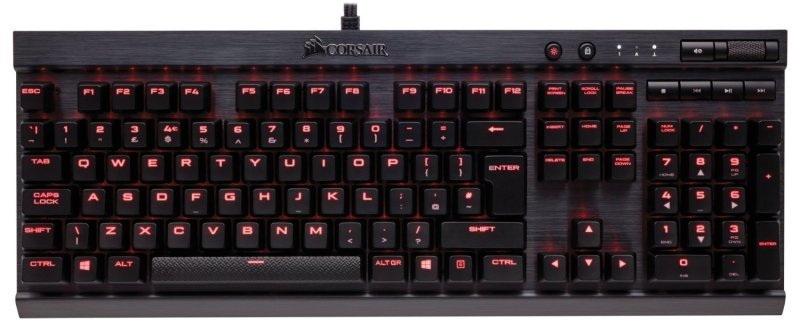 EXDISPLAY Corsair CH-9101024-UK  K70 Rapidfire Cherry Mx Red Backlit Mechanical Gaming Keyboard - Black