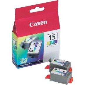 Canon Inkjet Cart Colour Bci-15c Pk2