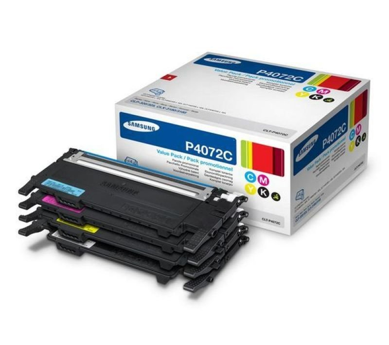 Samsung CLT-P4072C Rainbow (CMYK) Toner Cartridges - 1,5000 Pages