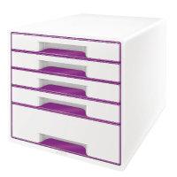 Leitz WOW CUBE 5-Drawer Desk Cabinet Purple