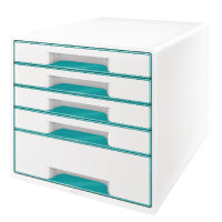 Leitz WOW Cube 5-Drawer Desk Cabinet Ice Blue