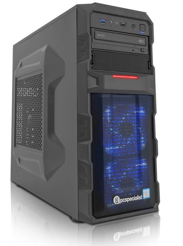 PC Specialist Vanquish Venom II Gaming PC Intel Core i36100 3.70GHz 8GB RAM 1TB HDD DVDRW NVIDIA 1060 3GB WIFI Windows 10 Home 64bit