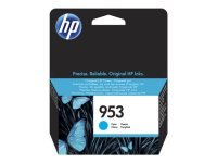 HP 953 Cyan Original Ink Cartridge - Standard Yield 700 Pages - F6U12AE