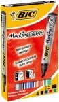 Bic Marking 2300 Chisel Tip Permanent Marker Line Width 3.1-5.3mm Assorted Colours (Pack of 4)