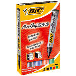 Bic Marking 2000 Bullet Tip Permanent Marker Assorted Colours (Pack 4)