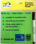 Green Magic Sticky Notes & Pen 50 sheets 10x10cm