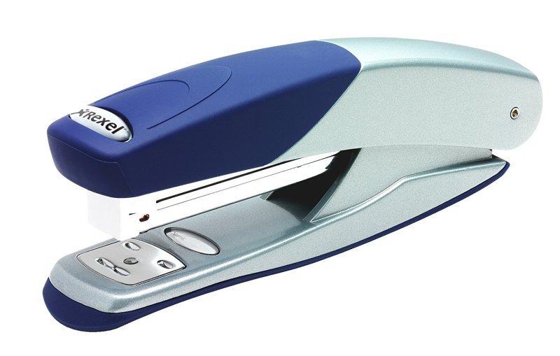 Rexel Torador Half Strip Stapler Silver/Blue