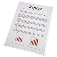 Esselte A4 Standard Folder Plastic Cut Flush Copy-safe Clear (Pack 100)