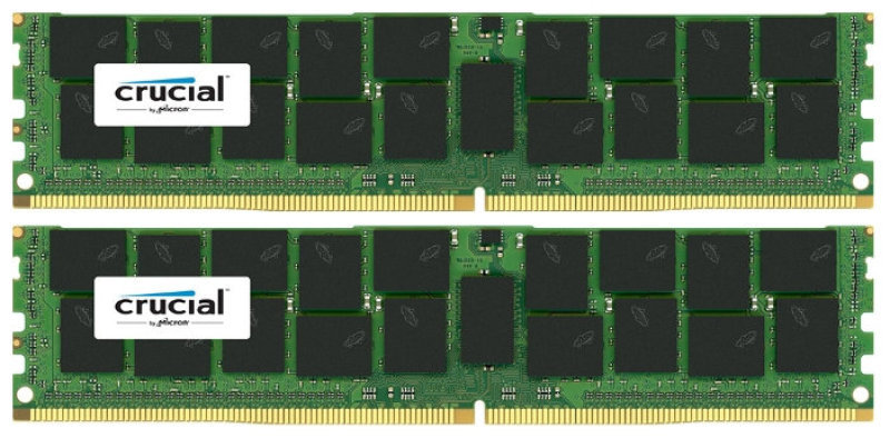 Crucial 32GB Kit (16GBx2) DDR4 2133MHz DIMM PC4-17000 ECC 1.2V Desktop Memory