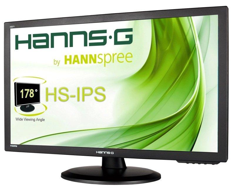 Hanns G Hs271hpb 27 Inch Wide Ips Led 1920 X 1080 Vga Dvi Hdmi Speakers Black