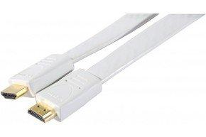 High Speed HDMI Cord Flat White- 1.80m