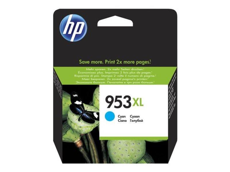 HP 953XL Cyan OriginalInk Cartridge - High Yield 1600 Pages - F6U16AE