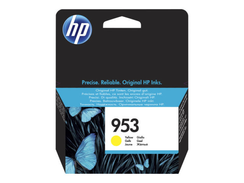 HP 953 Yellow	Original Ink Cartridge - Standard Yield 700 Pages - F6U14AE