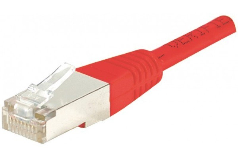 Image of Patch Cord RJ45 cat.6 S/FTP Crossover Red- 2m