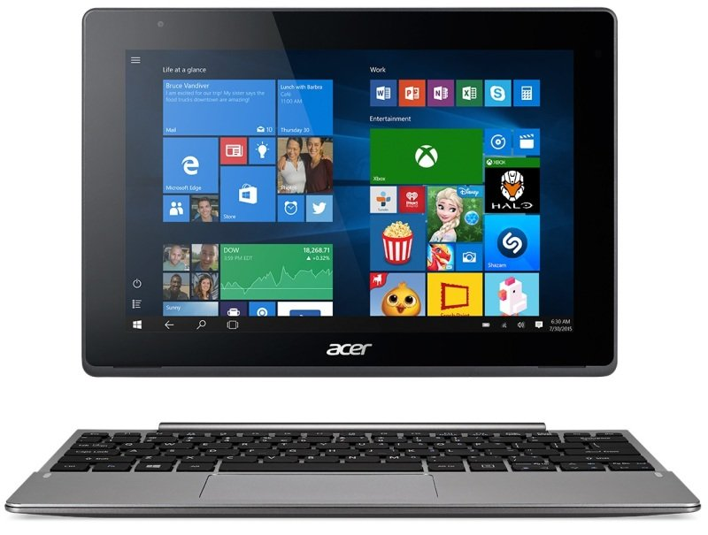 Aspire Switch 10 V 2in1 Intel Atom X5Z8300 1.44GHz 2GB RAM 64GB 10.1&quot Touch NoDVD Intel HD WIFI Webcam Bluetooth Windows 10 Pro