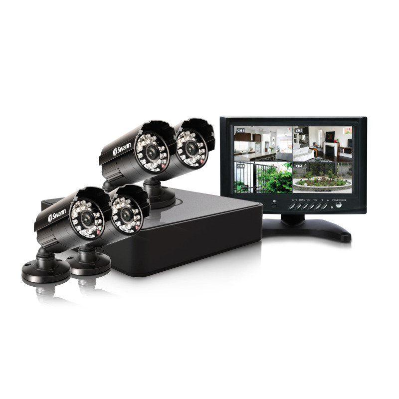 "Swann SWDVK-415254M - Monitor + DVR + camera(s) 4 cameras - 7"" - 4 channels"