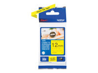 Brother P-Touch TZe-631S (12mm x 4m) Black On Yellow Labelling Tape