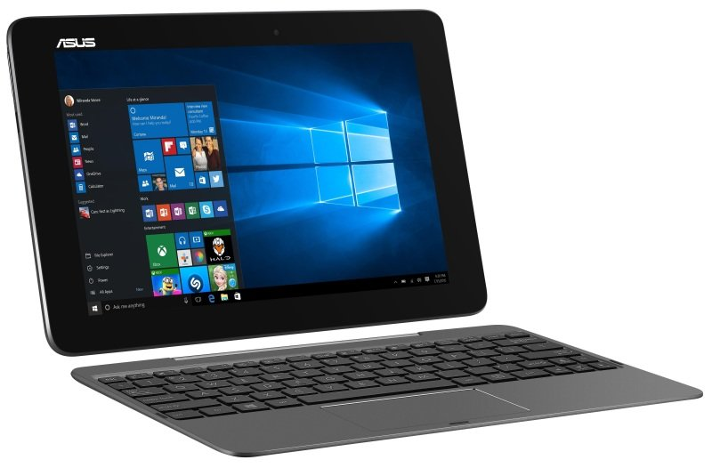"ASUS Transformer Book T100HA 2in1 Laptop Intel QuadCore Atom X5Z8500 1.44GHz 4GB RAM 64GB eMMC 10.1"" Touch NoDVD Intel HD WIFI Bluetooth 2 Cameras Windows 10 Pro  Grey"