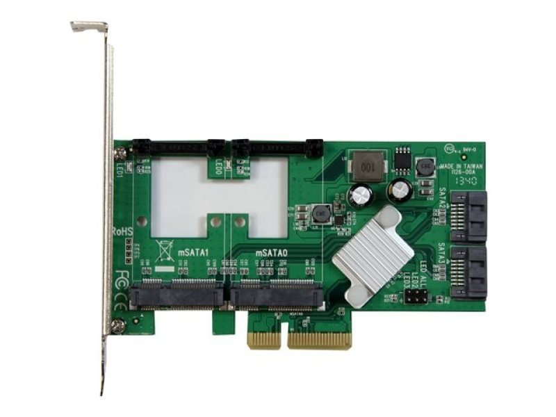 Startech.com 2 Port Pci Express 2.0 Sata Iii 6gbps Raid Controller Card With 2 Msata Slots And Hyperduo Ssd Tiering