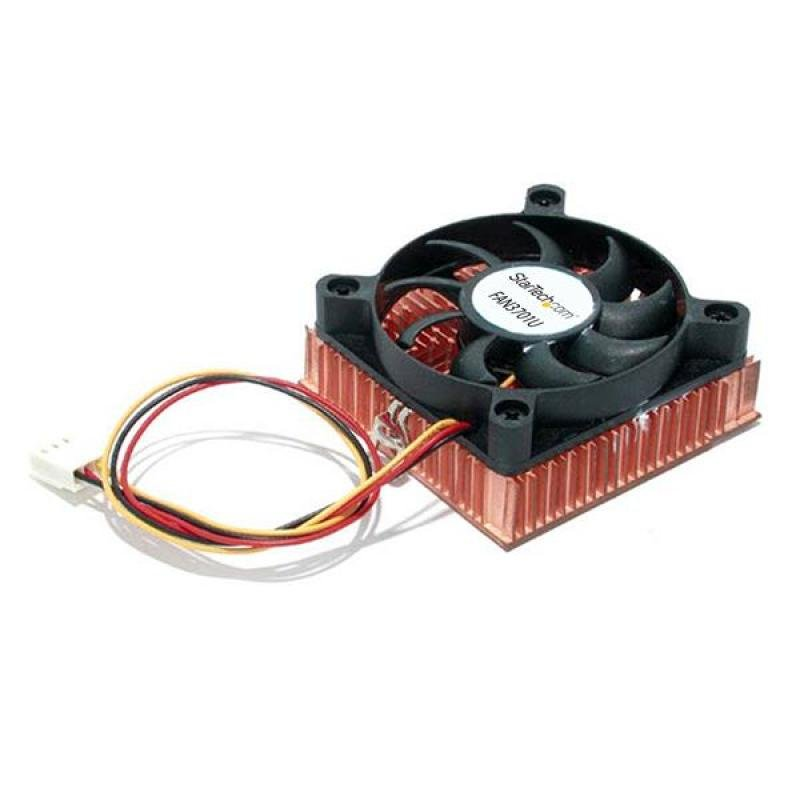 StarTech 1U  Socket 7/370 CPU Cooler Fan With Copper Heatsink