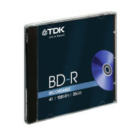 TDK 25GB 4x BD-R Blu-Ray Disc - Single Jewel Case