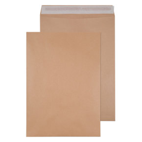 Q-Connect Envelope 458 x 324mm 135gsm Self Seal Manilla (Pack of 125)