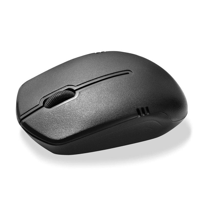 value wireless keyboard mouse combo set black ebuyer. Black Bedroom Furniture Sets. Home Design Ideas