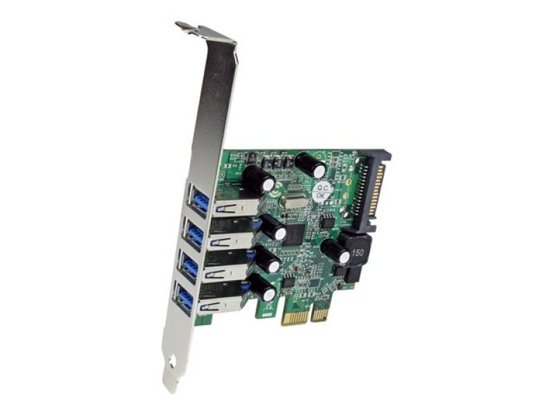 StarTech.com 4 Port PCI Express PCIe SuperSpeed USB 3.0 Controller Card Adapter with UASP -  SATA Power