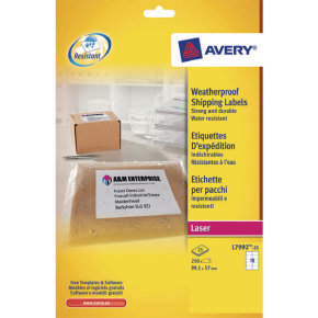 Avery Weatherproof Shipping Label 99.1x57mm (Pack of 25)
