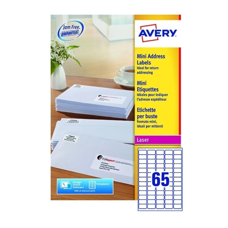 Avery White Mini Labels 38x21mm (Pack of 16250)