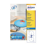 Avery Full Face CD/DVD Labels 117mm Diameter J8676-100 (Pack of 200)