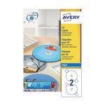 Avery Full Face CD/DVD Labels 117mm Diameter J8676-100 (Pack of 200)