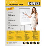 Bi-Office White A1 Gridded Flipchart Pads (Pack of 5)
