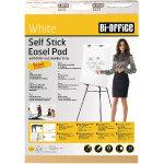Bi-Office Self-Stick Flipchart Pad 635x780mm 30 Sheets White  (Pack of 2)