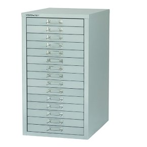 Bisley Non-Locking Multi-Drawer Cabinet 15 Drawer Grey