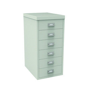 Bisley Non-Locking Multi-Drawer Cabinet 6 Drawer Grey