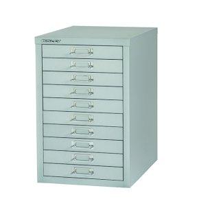 Bisley Non-Locking Multi-Drawer Cabinet 10 Drawer Grey