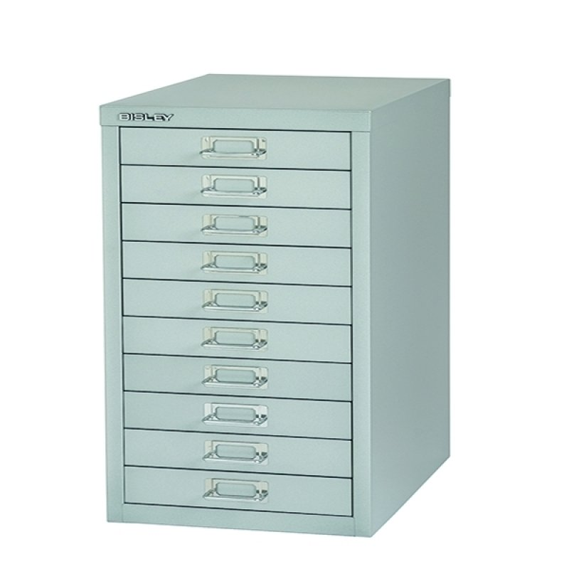 Bisley Non-Locking Multi-Drawer Cabinet 10 Drawer Grey