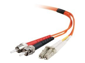 C2G LC-ST 50/125 OM2 Duplex Multimode PVC Fiber Optic Cable (LSZH)