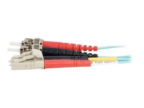 C2G 20M LC-ST 10GB 50/125 OM3 Duplex Multimode PVC Fibre Optic Cable (LSZH) - Aqua