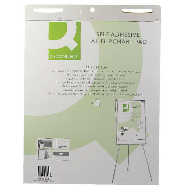 Q-Connect Self Adhesive A1 Flipchart (Pack of 2)