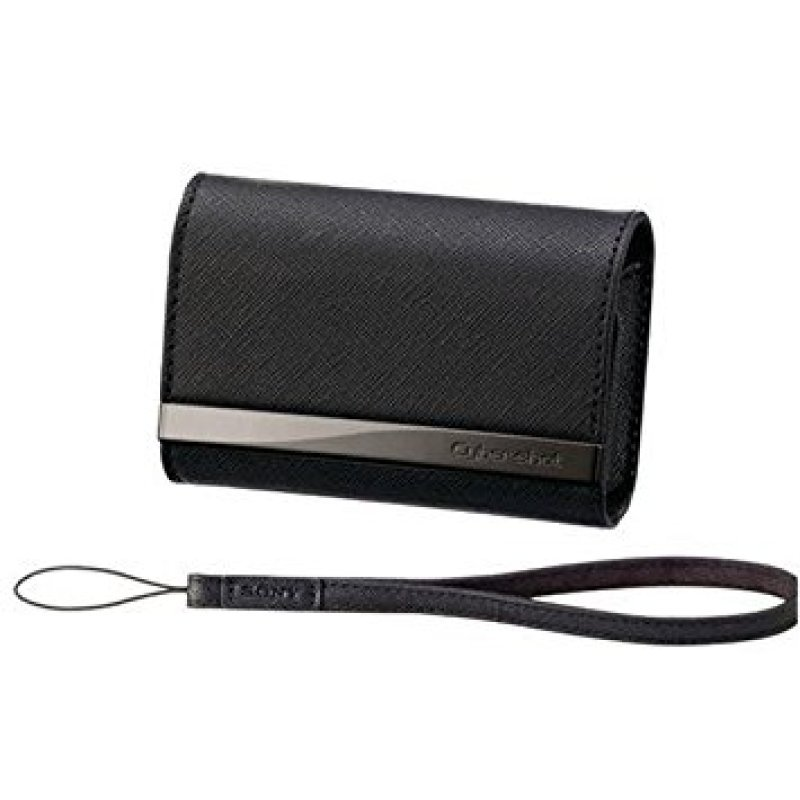 Sony LCS CSVA  Soft case for digital photo camera  genuine leather  black