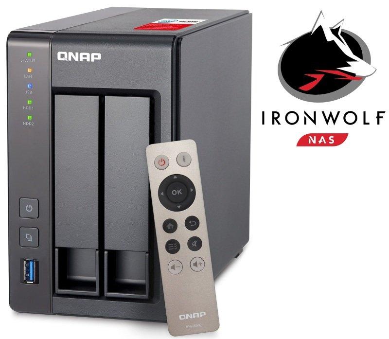 QNAP TS2512G 4TB (2 x 2TB SGTIW) 2 Bay NAS Unit with 2GB RAM