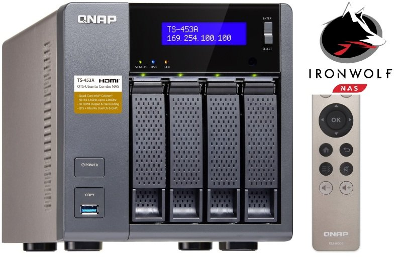 QNAP TS453A4G 12TB (4 x 3TB SGTIW) 4 Bay NAS Unit with 4GB RAM