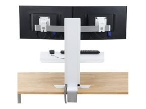 WORKFIT-S, DUAL MONITOR, REAR MOUNTING, BRIGHT WHITE
