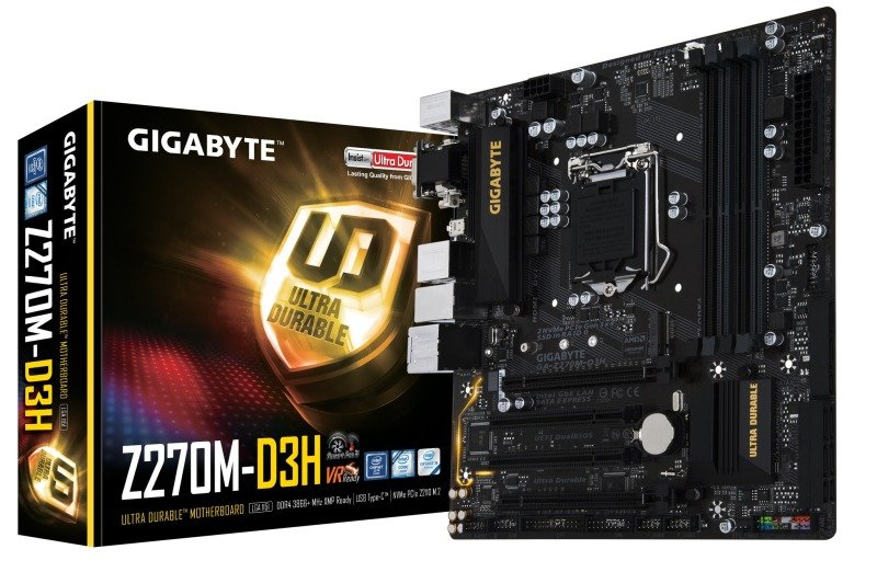 Gigabyte Intel GAZ270MD3H LGA 1151 Micro ATX Motherboard