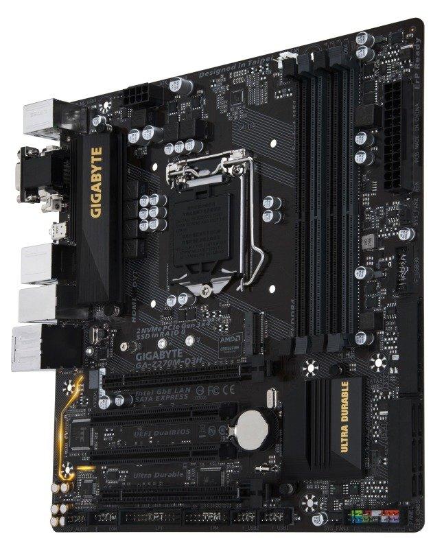 Gigabyte Intel GA-Z270M-D3H LGA 1151 Micro ATX Motherboard