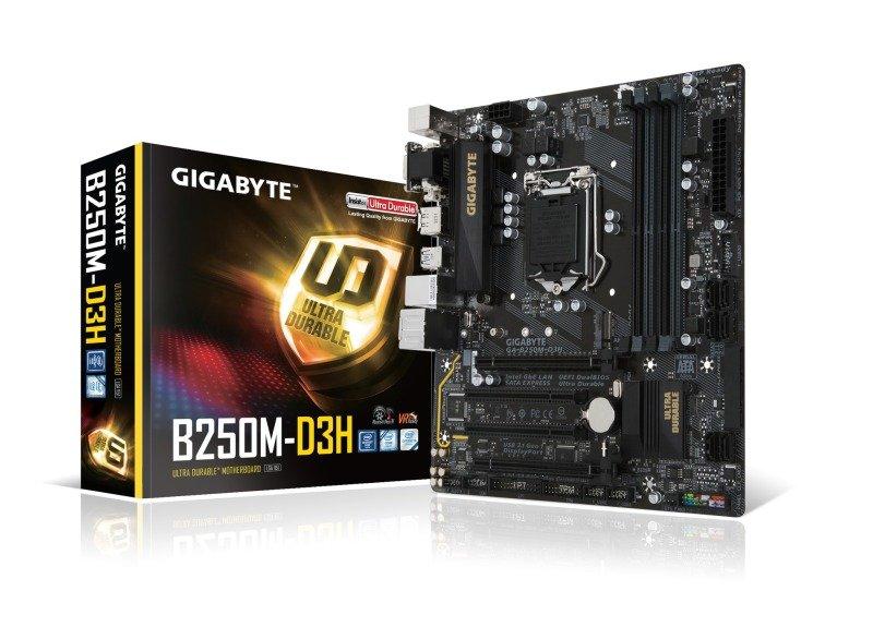Gigabyte Intel GAB250MD3H LGA 1151 Micro ATX Motherboard