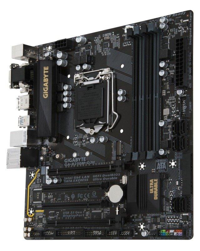 Gigabyte Intel GA-B250M-D3H LGA 1151 Micro ATX Motherboard