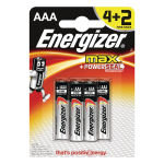 Energizer Max Batteries Aaa Pk 4 Plus 2